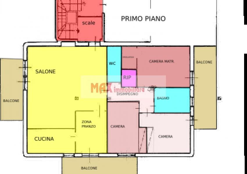 Pesaro, zona Cattabrighe - Appartamento in Vendita | Min. Planimetria 2