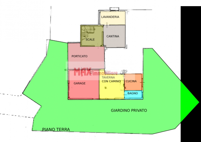 Pesaro, zona Cattabrighe - Appartamento in Vendita   Min. Planimetria 1