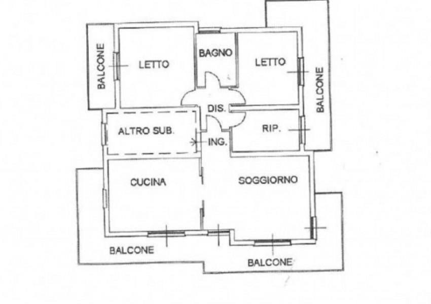 Pesaro, zona Cattabrighe - Appartamento in Vendita | Min. Planimetria 1