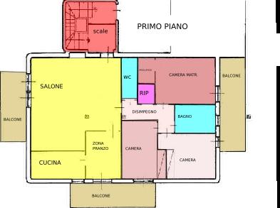 Pesaro, zona Cattabrighe - Appartamento in Vendita   Planimetria 2