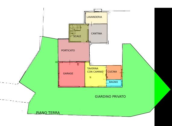 Pesaro, zona Cattabrighe - Appartamento in Vendita   Planimetria 1